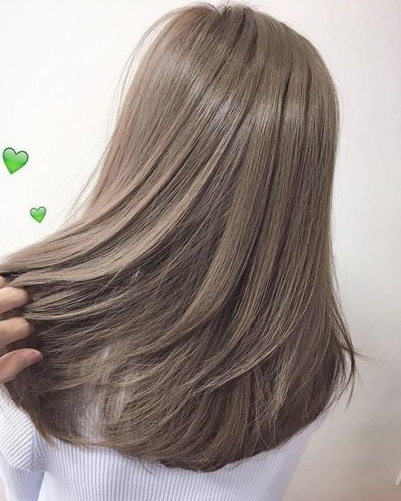 tóc màu nâu sữa 14