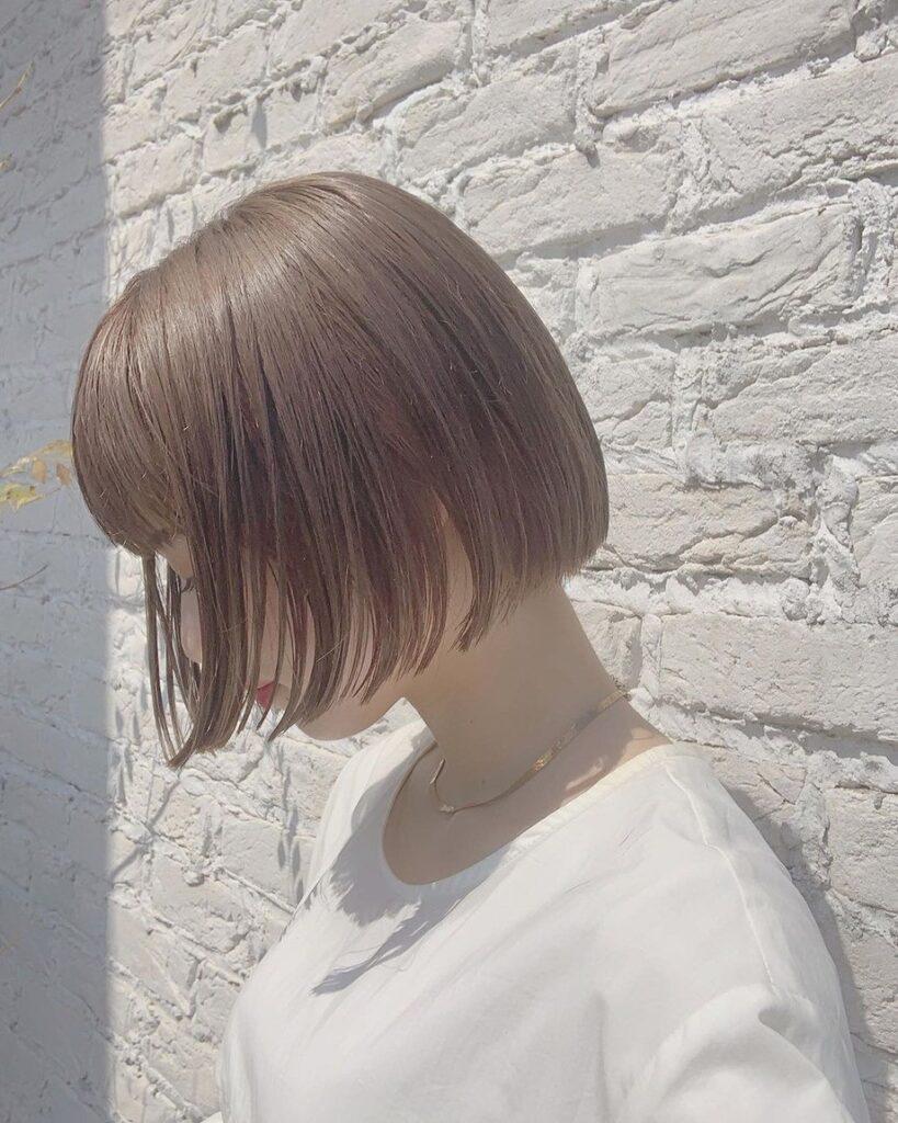 tóc màu nâu sữa 16