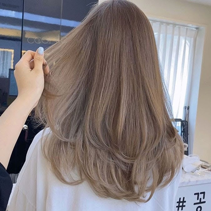 tóc màu nâu sữa 17
