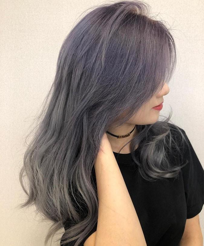 tóc màu than chì 3