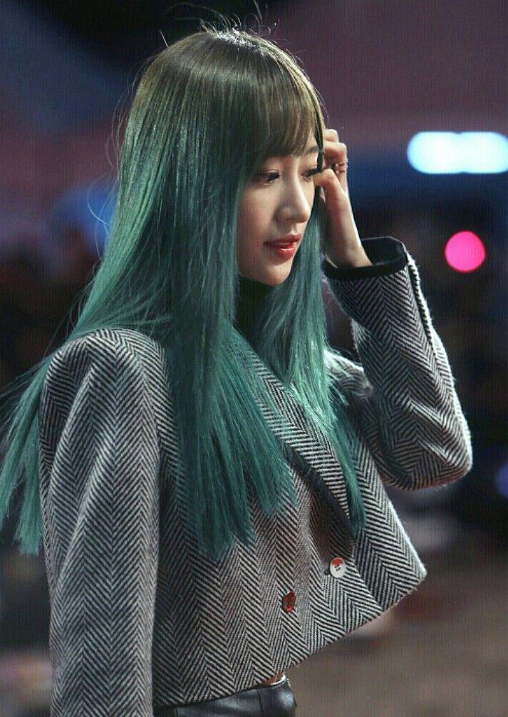 Tóc màu xanh rêu 003
