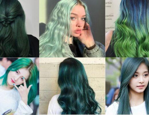 Tóc màu xanh rêu thumb
