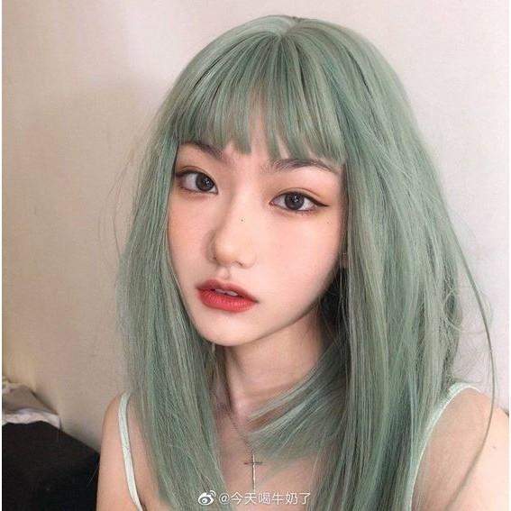 tóc màu xanh rêu_5