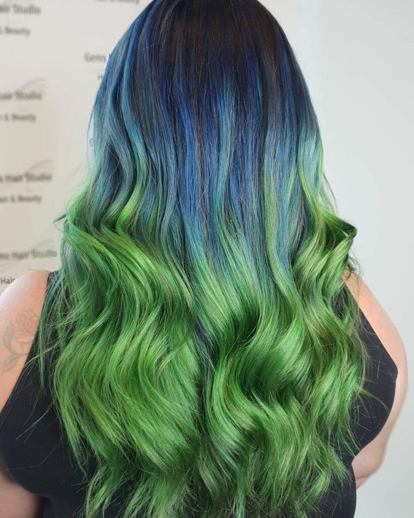tóc màu xanh rêu_8
