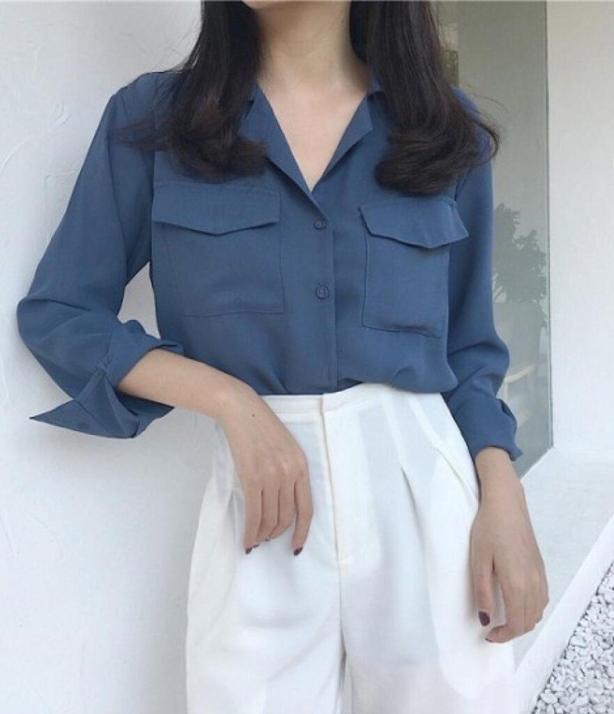 trang phục màu xanh biển _22