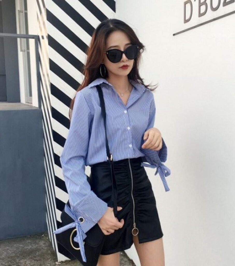 trang phục màu xanh biển _23