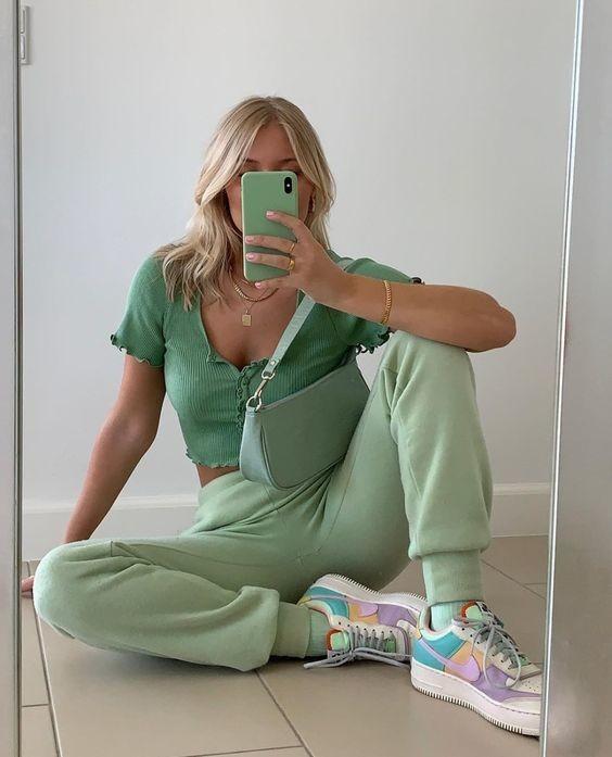 trang phục xanh mint 14