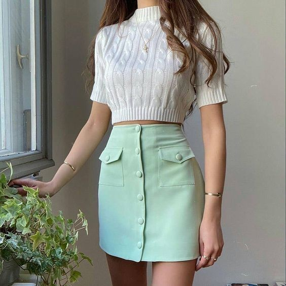 trang phục xanh mint 19
