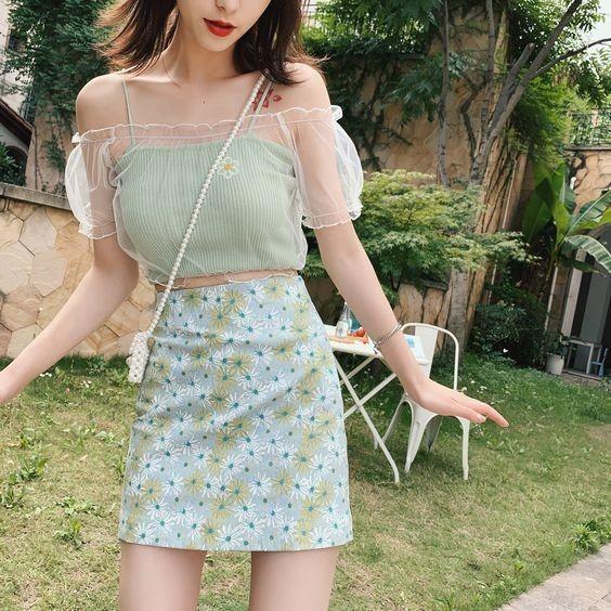 trang phục xanh mint 7