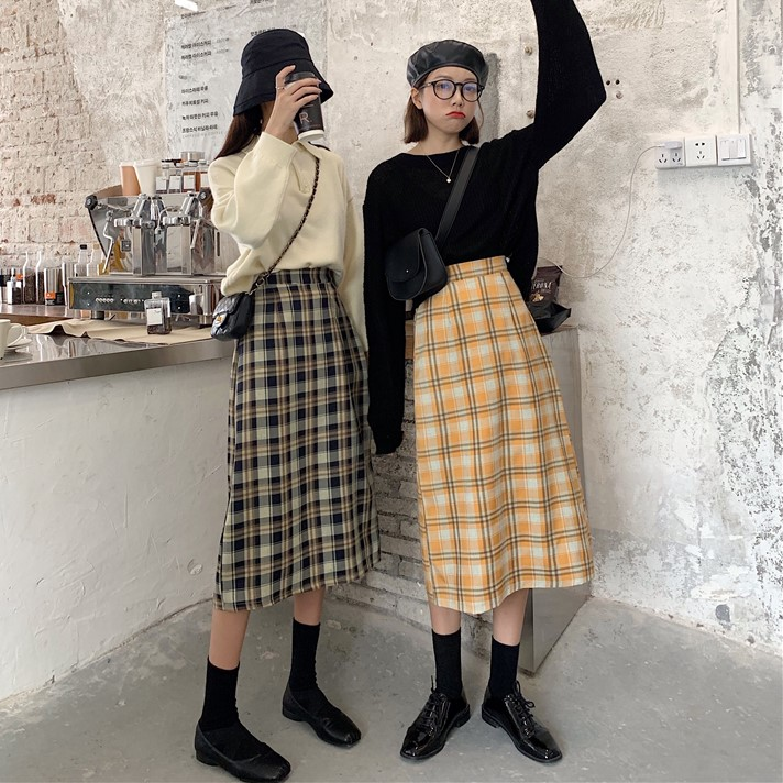 Ý tưởng với váy caro 1