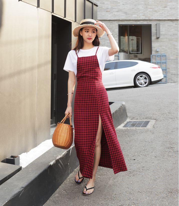 Ý tưởng với váy caro 32