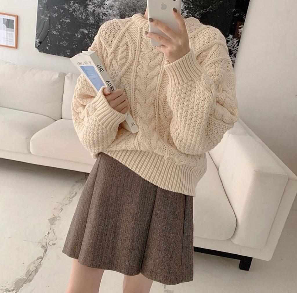 Cách phối đồ với áo len 2 (6)