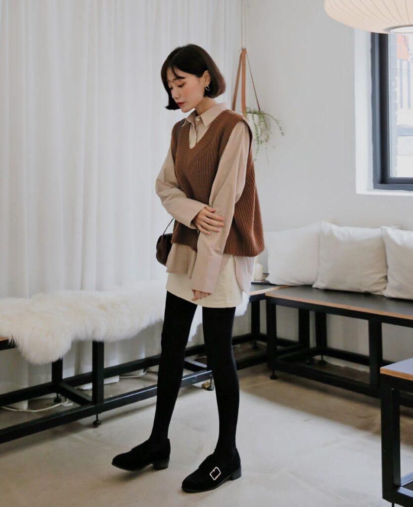 Cách phối đồ với áo len (3)