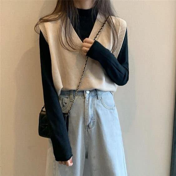 Cách phối đồ với áo len (5)