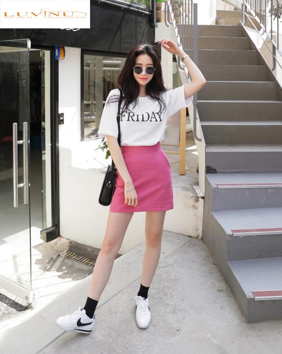 Cách phối đồ với trang phục màu hồng (16)