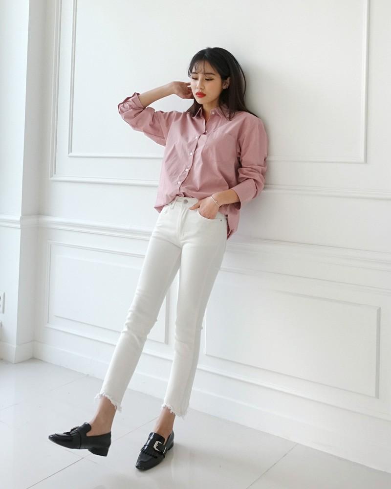 Cách phối đồ với trang phục màu hồng (3)