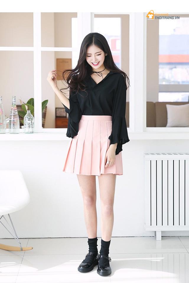 Cách phối đồ với trang phục màu hồng (31)