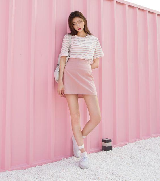 Cách phối đồ với trang phục màu hồng (6)