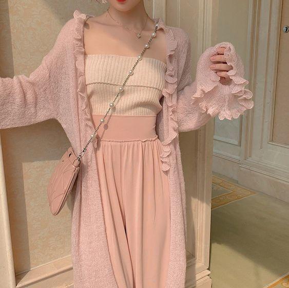 Cách phối đồ với trang phục màu hồng (9)